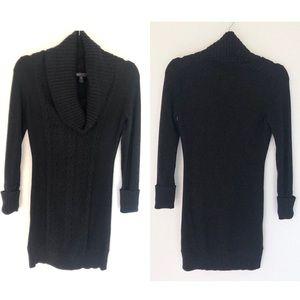 BCBGMaxAzria Cableknit Cowl Neck Tunic Sweater